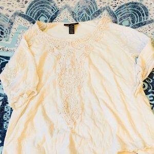 Style and Co white 1/2 length blouse
